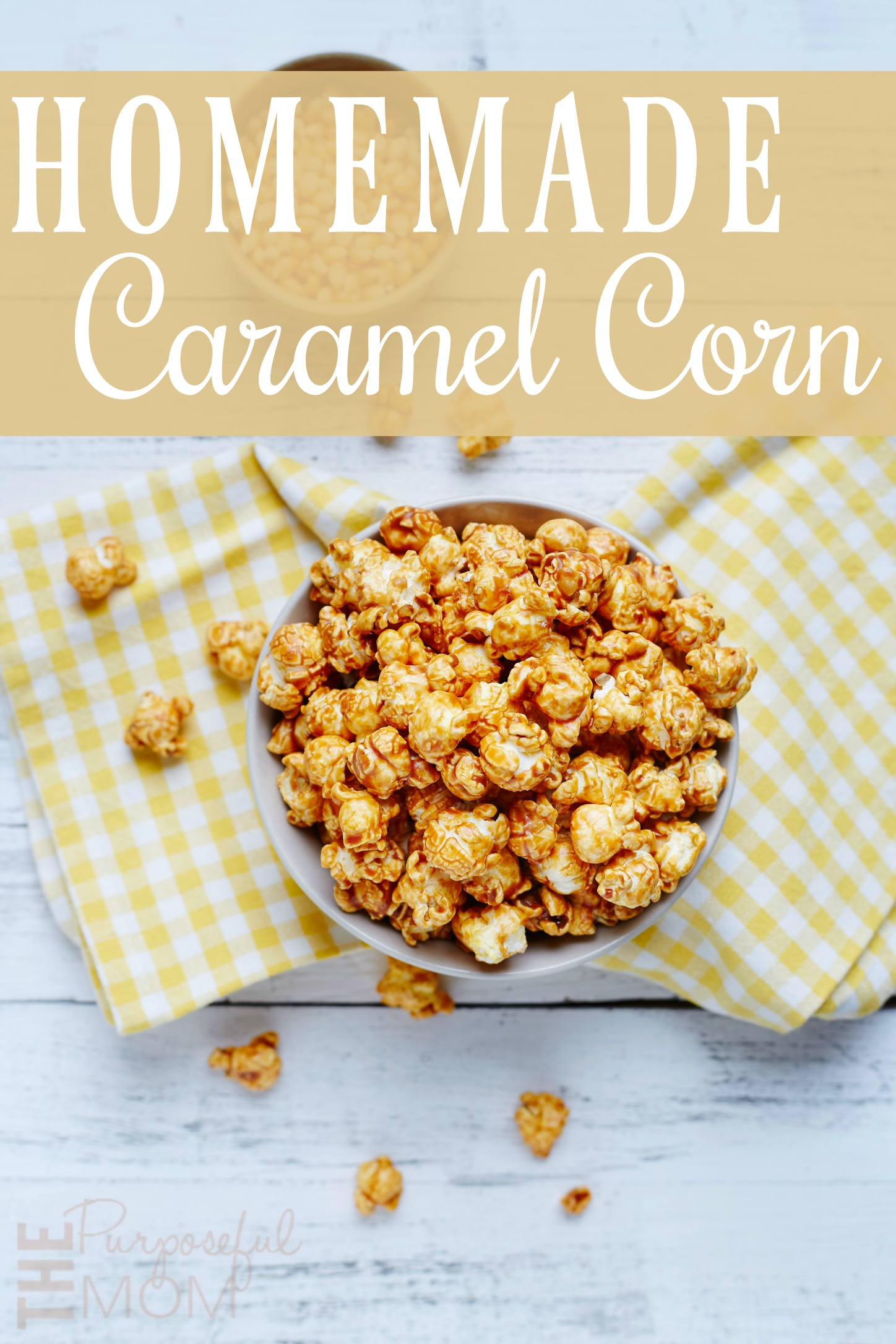 Homemade Microwave Caramel Corn--an easy recipe that's perfect for fall! Make it with kids too!
