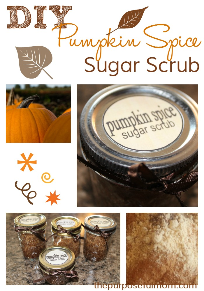 Make your own pumpkin spice sugar scrub for a great DIY gift!