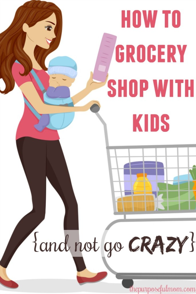How to grocery shop with kids and not go crazy! 5 tips that actually have worked for this mother of four!