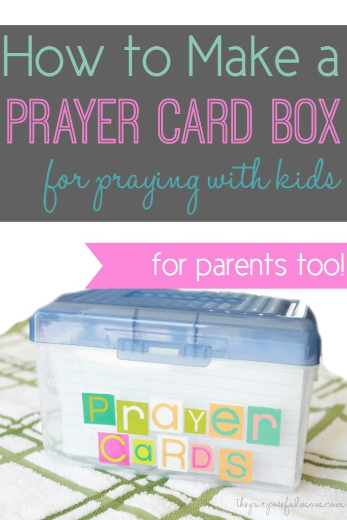 How to make a prayer card box for praying with kids! A great tool for devotional or prayer time. For parents too!