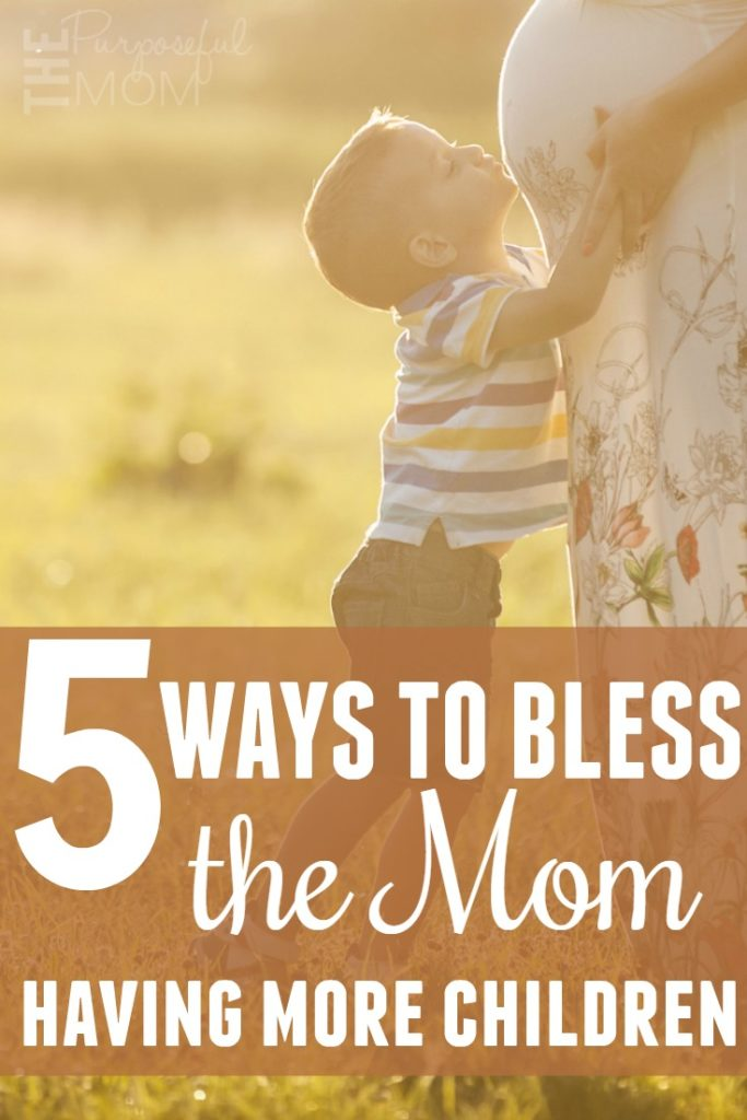 Five ways to bless the mom having more children! When your friend is having her second, third or more, these are gifts they will appreciate!