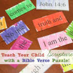Teach Your Kids Scripture with a Bible Verse Puzzle!