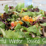 Colorful Winter Tossed Salad (with Fruit!)