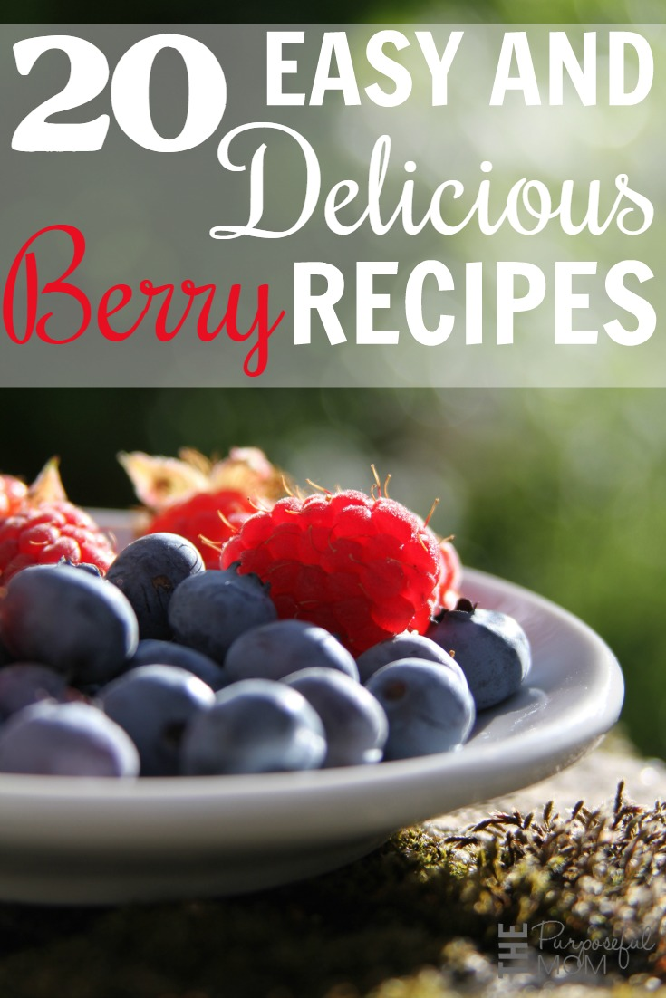 Try these 20 easy and delicious berry recipes! Find a new favorite this spring and summer--I love how much you can do with fresh berries!