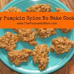 Easy Pumpkin Spice No Bake Cookies