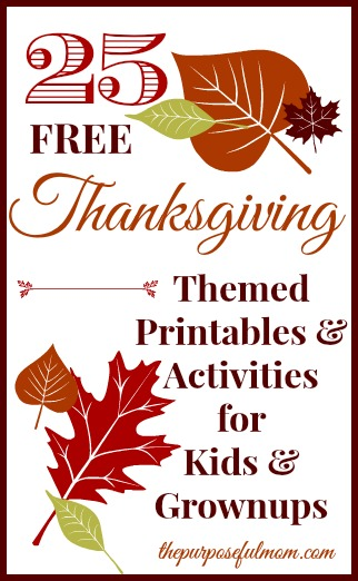 25 free thanksgiving themed printables for kids and grownups. Black Bedroom Furniture Sets. Home Design Ideas