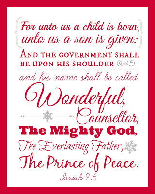Isaiah 9:6 Scripture Wall Art Free Printable