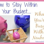 How to Stay Within your Budget When You're Busy with a Newborn