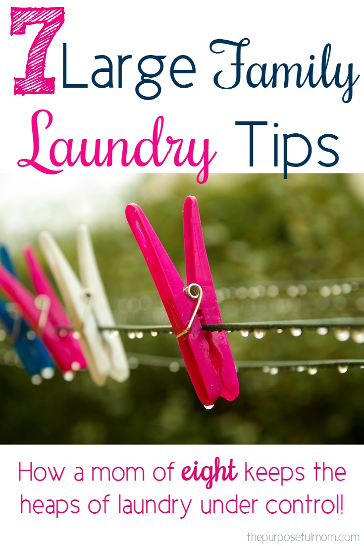 Large family laundry tips the purposeful mom for Large family laundry