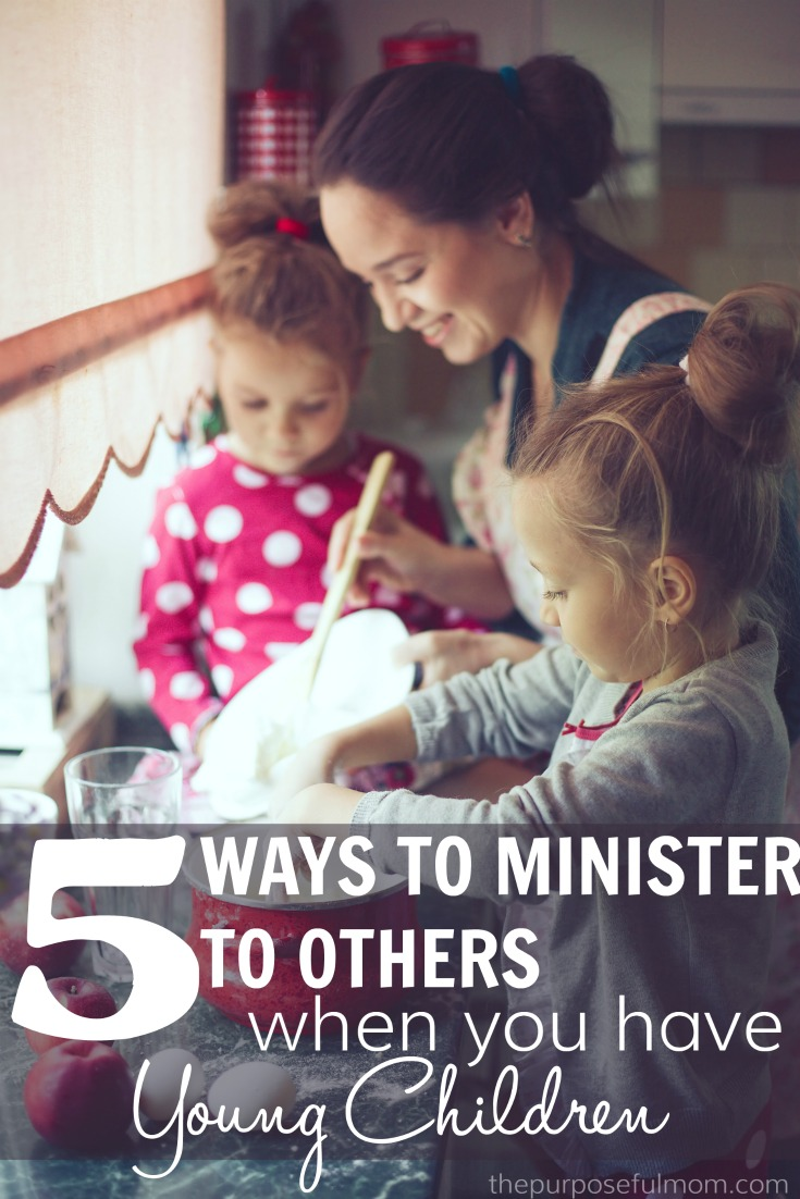 When you have young children, it can seem overwhelming to find the time to help others. But ministering to others is a great tool for teaching your kids kindness and cultivating a caring heart! Here are five ways our family helps others even when we're busy!