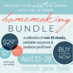 The Wait is Over! The Ultimate Homemaking eBook Bundle is LIVE!