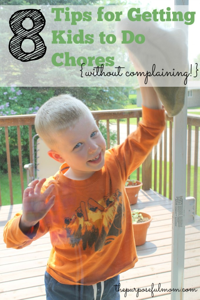 8 tips for getting kids to do chores (without complaining!) If you've ever dealt with bad attitudes when you ask your children to clean up, this post is for you!