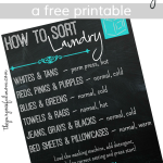 Free Printable – How to Sort Laundry Chart