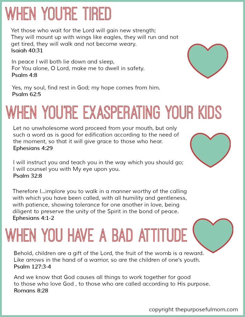 Bible Quotes About Mothers 8 Scripture Verses For Struggling Moms Free Printable  The