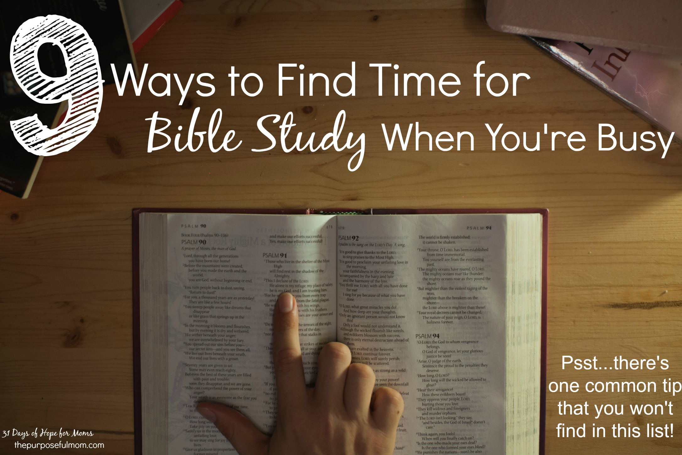 How to Find Time for Bible Study When You're Busy
