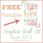 Hope for the Mom of Many Little Ones, Free Printable Scripture Wall Art and Mom2Mom Mondays!