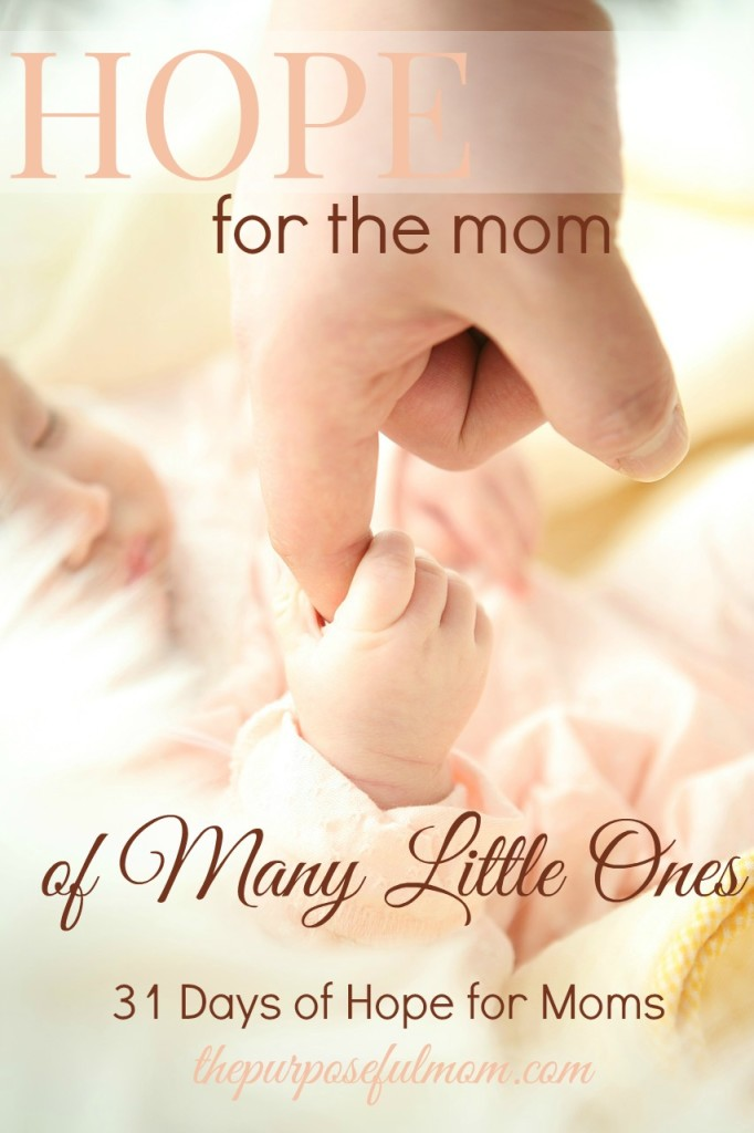 Hope for the mom of many little ones plus a free Scripture wall art printable about children