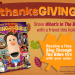 What's in the Bible DVDs – Free Sing Through the Bible DVD with Any Purchase for One Week Only!