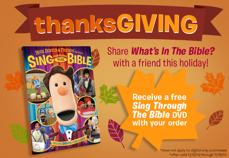 What's in the Bible Free DVD with Purchase through 11/18!