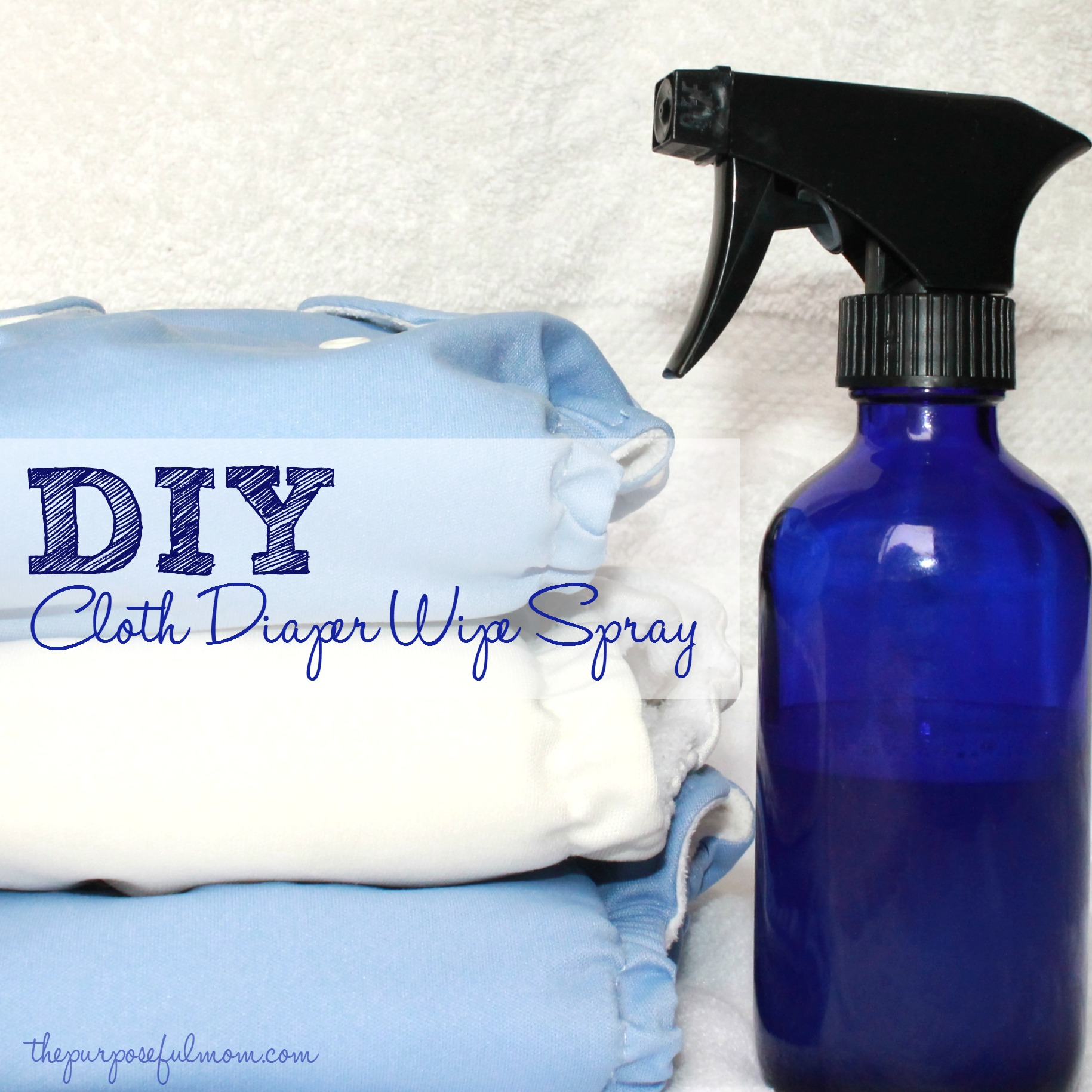 DIY Cloth Diaper Wipe Spray