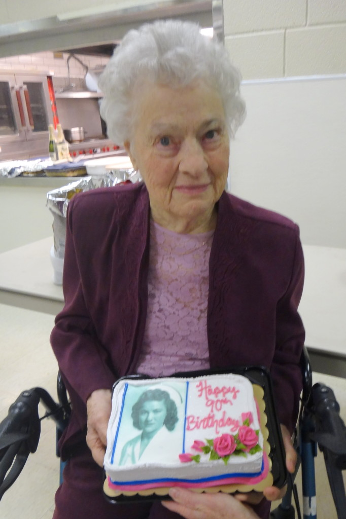 My grandmother on her 90th birthday, shortly before she went home to be with the Lord.