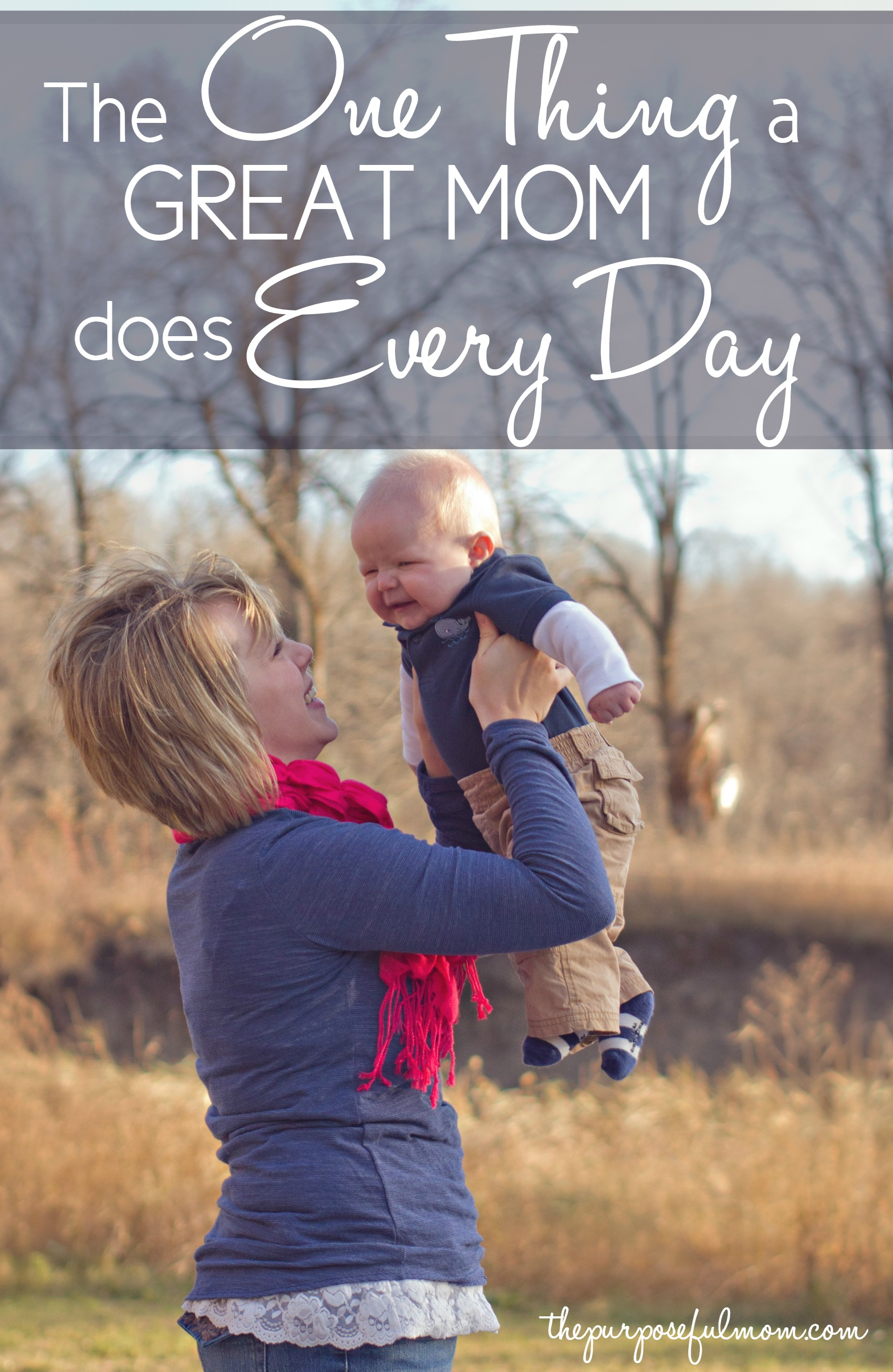 Following all the mom advice out there can be completely overwhelming and exhausting. It makes me want to just throw in the towel sometimes, because I can't do it all? But the good news? There is one thing a great mom does every day--it might surprise you!