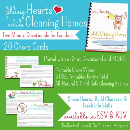 Filling Hearts While Cleaning Homes - 5 Minute Devotionals for Families