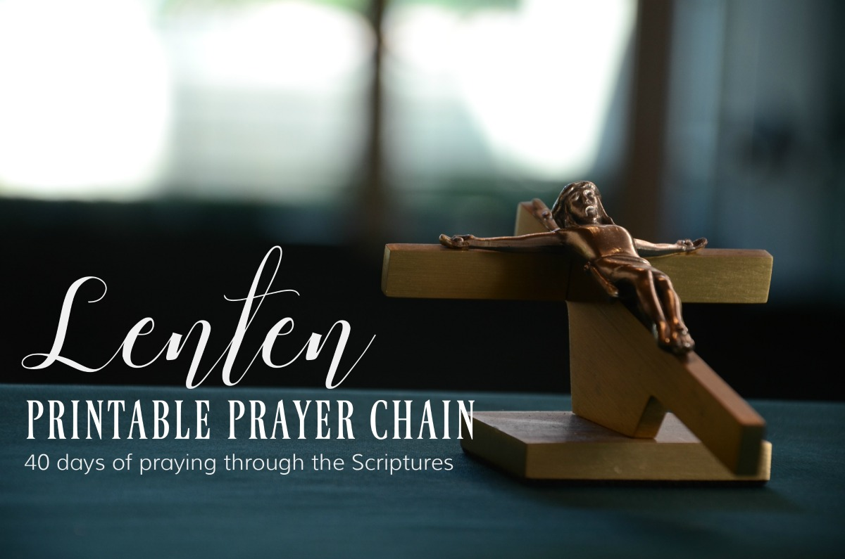 Lenten printable prayer chain for families