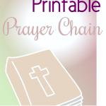 Free 40 Day Prayer Chain Printable- Scripture and Prayer Prompts for Kids and Families During Lent or Anytime!