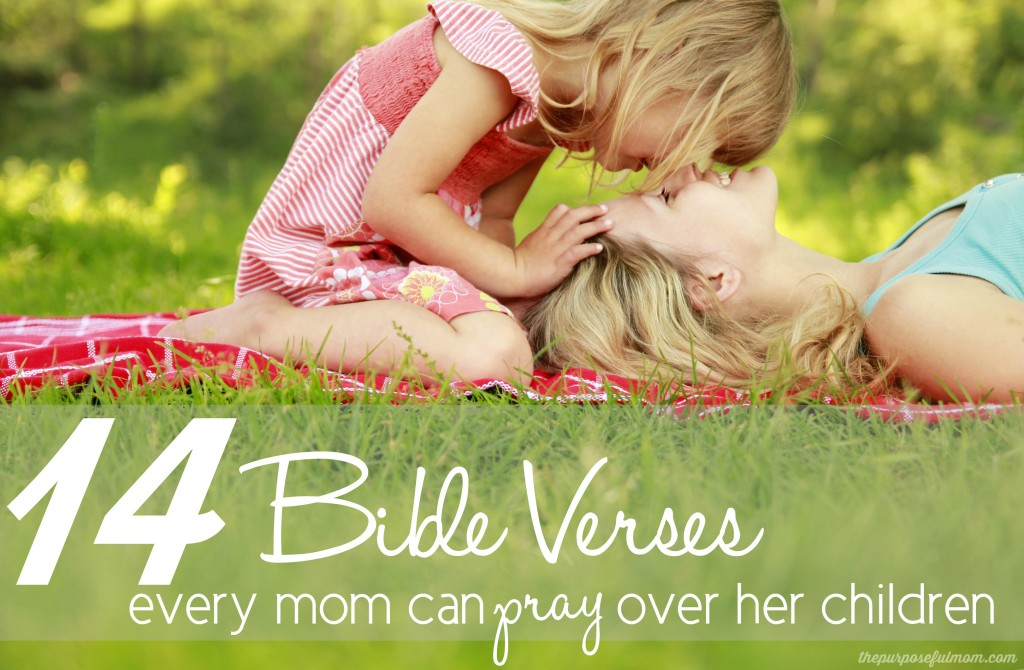 14 Bible verses for every mom to pray over her children! Speaking Scripture over our kids is one of the best ways to pray for them!