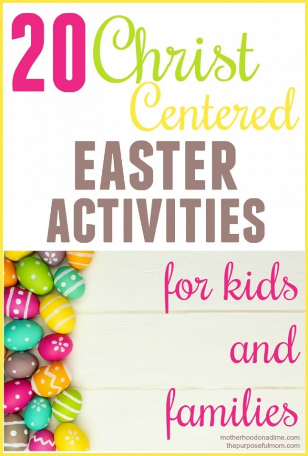 Christ centered Easter activities for kids and families