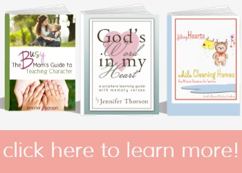 Need helpful resources to teach your kids character, hide God's Word in their hearts and teach them about the Lord while doing your day to day chores? You can find what you need right here!