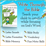 How to Teach Your Child Handwriting and the Bible at the Same Time!