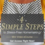 4 Simple Steps to Stress-Free Homemaking (Free Video eCourse!)