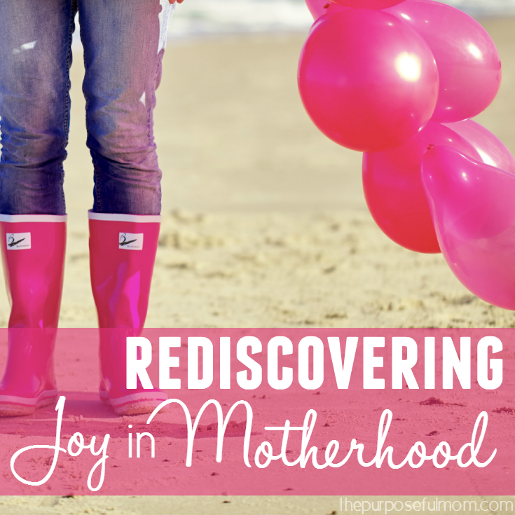 Feeling less than joyous about motherhood? This series on rediscovering the joy of motherhood can help and encourage you!