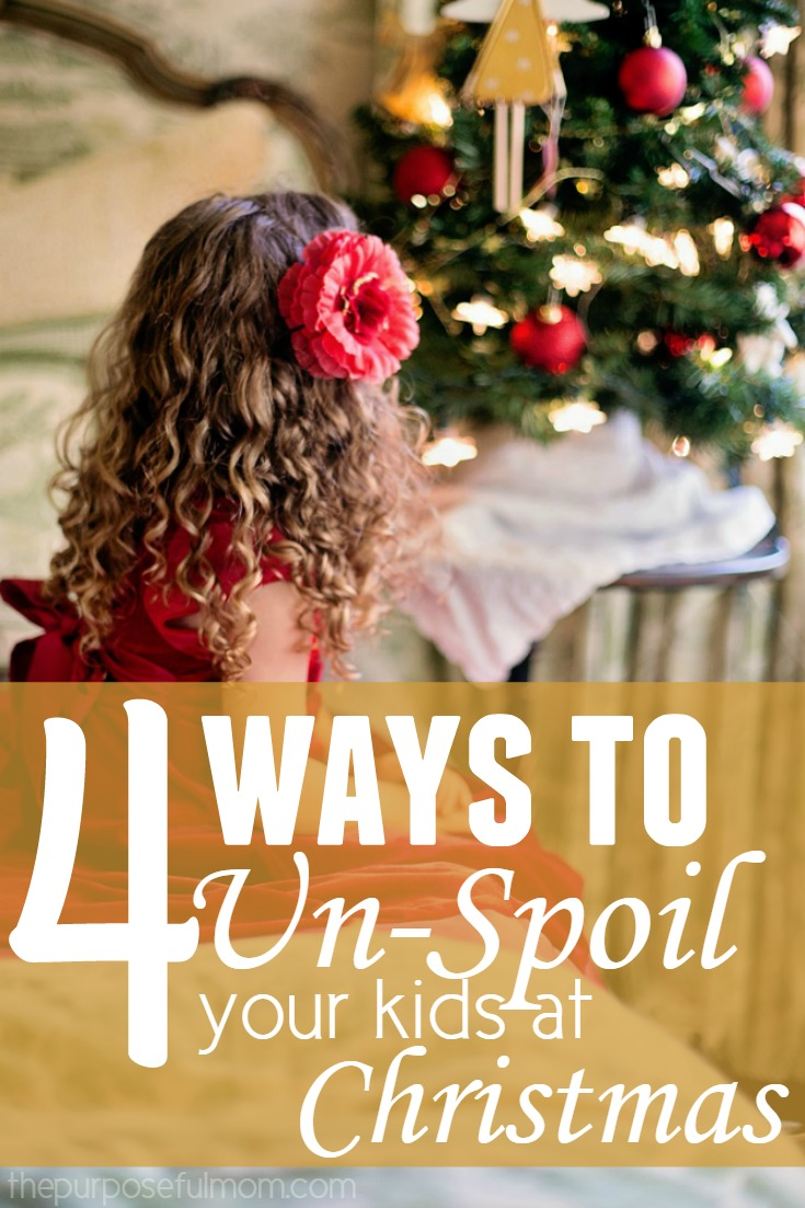 4 ways to unspoil your kids at Christmas - when they struggle with contentment and always wanting more