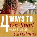 How to Unspoil Your Kids at Christmas