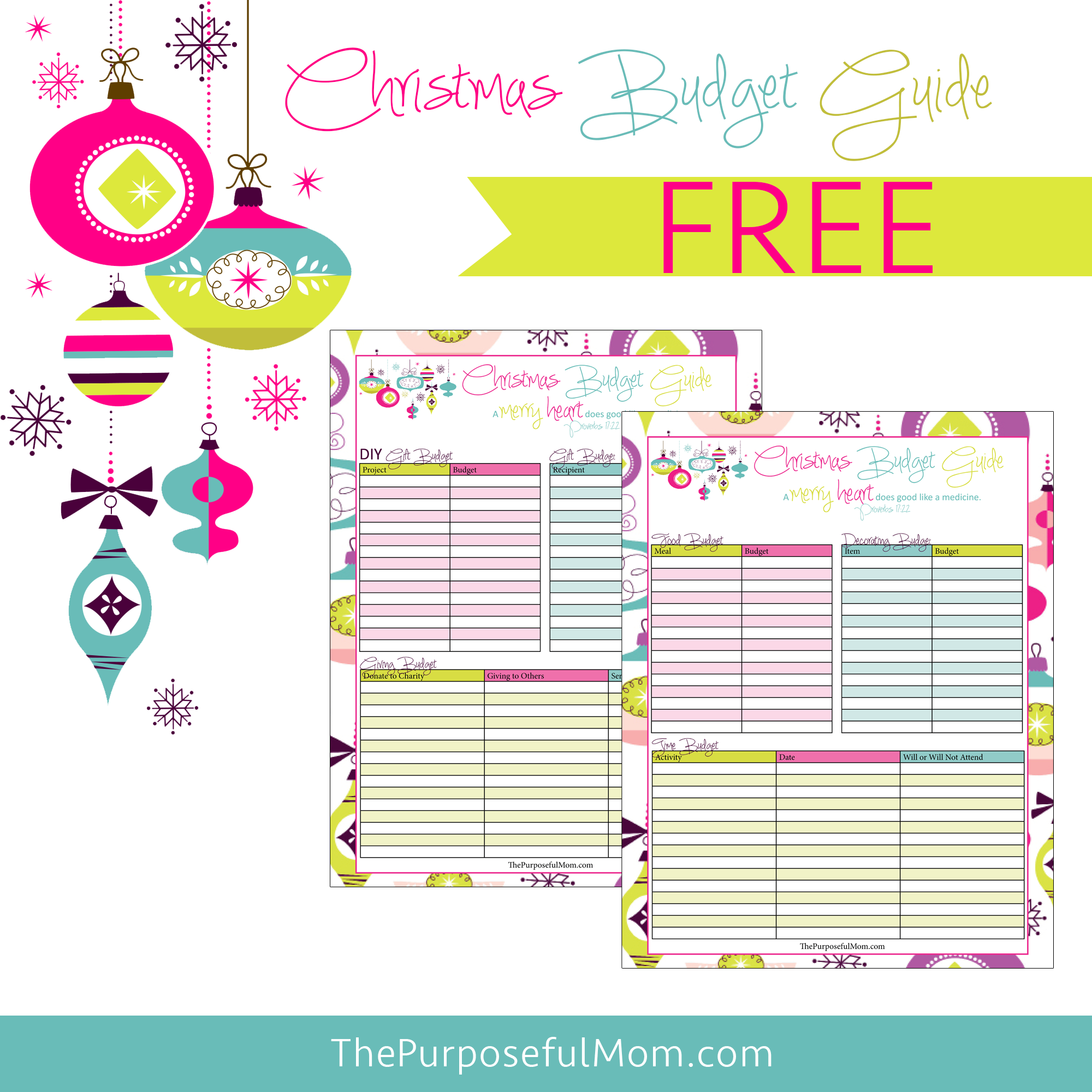 Free Printable Christmas Budget Planner - The Purposeful Mom