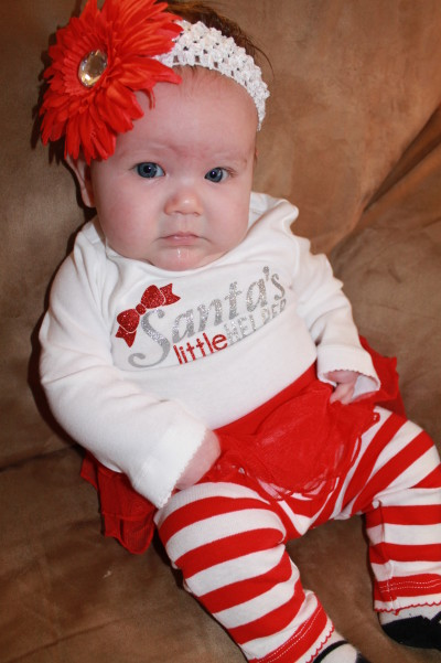 My sweet Lydia when she was 2 months old! Isn't she cute? :)