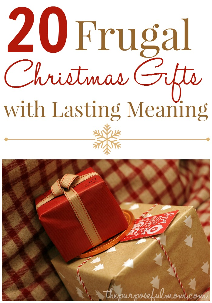 20 Frugal Christmas gifts with lasting meaning