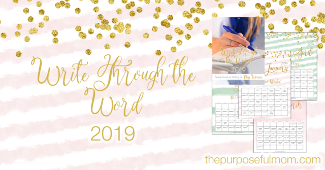 Write Through the Word Scripture writing plan for busy women