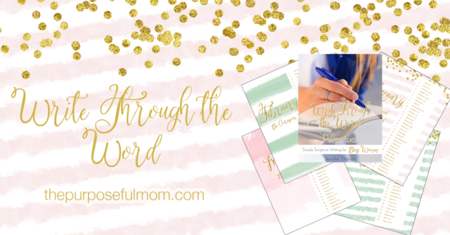 write through the word scripture writing plans for busy moms