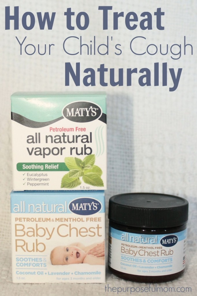 How to treat your child's cough naturally with Maty's all natural vapor and chest rub for children of all ages!