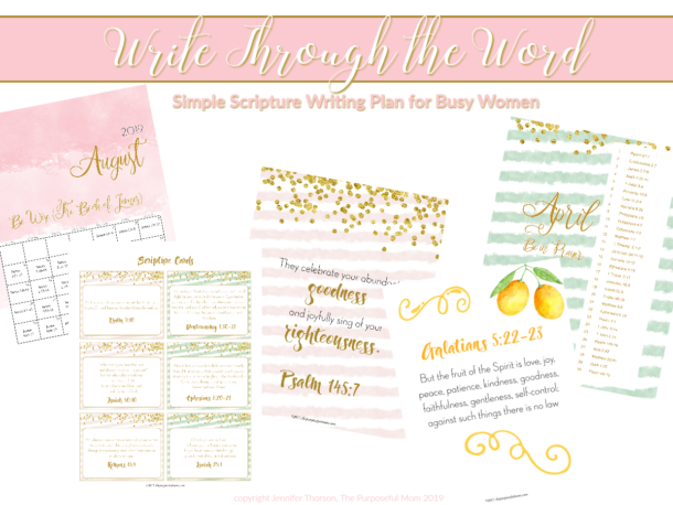 Write Through the Word Scripture Writing Plan for Busy Moms