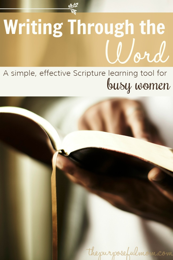 write through the word  a simple  effective scripture