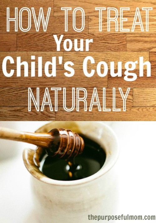 Four ways to treat your child's cough naturally that really work! Great tips for alleviating the symptoms of coughs and colds for children of all ages!