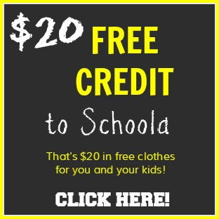 Get a $20 credit to Schoola, gently used high quality clothes for children and women too!