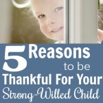 Five Reasons to be Thankful For Having a Strong Willed Child