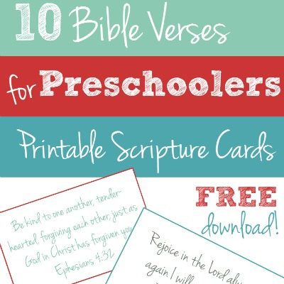 photo about Free Printable Scripture Verses named Totally free Printable: 10 Bible Verses in the direction of Practice Your Preschooler