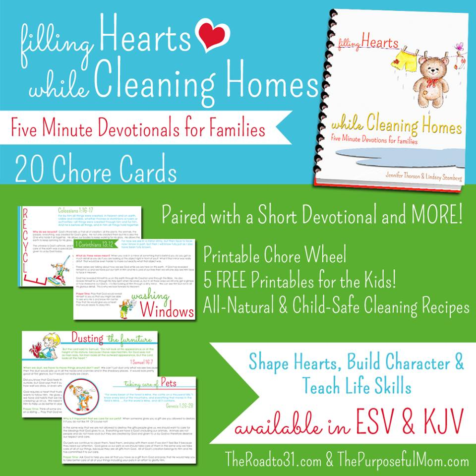 Filling Hearts While Cleaning Homes: Five Minute Devotionals for Families